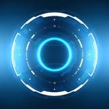 Futuristiskt science fictioncirkulär HUD Element vektor illustrationer