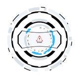 Futuristiskt science fictioncirkulär HUD Element royaltyfri illustrationer