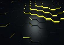Futuristiskt svart reflekterande yttersidaabstrakt begrepp 3d framför Arkivbild