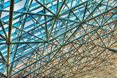 Futuristiskt tak för fragmentbakgrund Arkivfoton