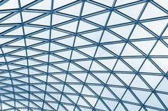 Futuristiskt tak för fragmentbakgrund av modern byggnad Royaltyfria Bilder