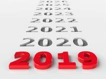 futuro 2019 illustrazione vettoriale