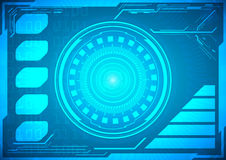 Futuro abstracto, gráfico virtual azul futurista del vector del concepto Foto de archivo