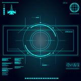 Futuro astratto, utente grafico virtuale blu futuristico di tocco di vettore di concetto royalty illustrazione gratis
