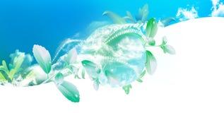 Futuro brilhante com tecnologia limpa ilustração do vetor