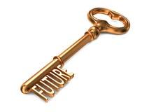 Futuro - chave dourada. Fotos de Stock