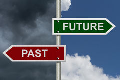 Futuro contra pasado Imagen de archivo