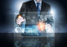 Futuro da tecnologia Fotografia de Stock Royalty Free