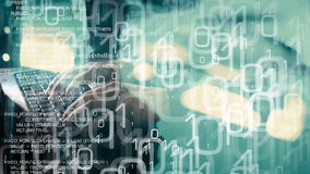 Futuro da tecnologia, ataque do cyber do hacker de computador