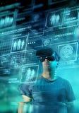 Futuro de Digitaces VR fotos de archivo libres de regalías