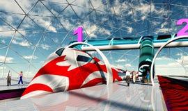Futuro del ferrocarril Foto de archivo libre de regalías