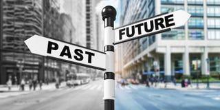 Futuro del segnale stradale oltre fotografia stock