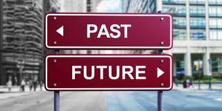 Futuro del segnale stradale oltre immagine stock libera da diritti