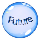 Futuro della sfera di cristallo Immagine Stock Libera da Diritti