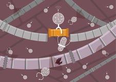 Futuro di medicina Nanobots nell'azione fotografia stock libera da diritti