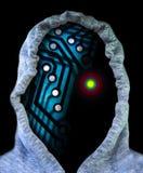 Futuro do autômato do androide do robô do cyborg da inteligência artificial do Ai fotos de stock royalty free