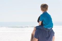 Futuro do pai e do filho Fotografia de Stock Royalty Free