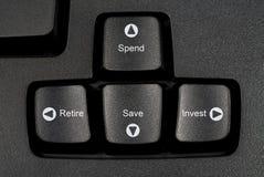 Futuro do teclado Fotografia de Stock Royalty Free