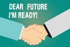 Futuro do texto da escrita da palavra caro mim M Ready O conceito do negócio para seja preparado para eventos seguintes e o suces ilustração royalty free