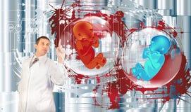 Futuro dos povos. Pesquisa genética ilustração stock