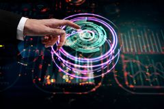 Futuro e conceito da analítica Imagens de Stock Royalty Free