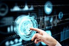 Futuro e conceito da finança Imagem de Stock Royalty Free