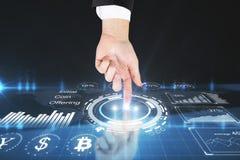 Futuro e conceito do cyrptocurrency Imagens de Stock Royalty Free