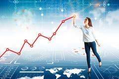 Futuro e concetto di analisi dei dati Fotografia Stock