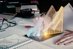 Futuro e concetto di vendite Immagini Stock