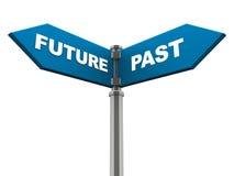 Futuro e passado Fotografia de Stock Royalty Free