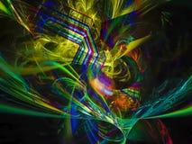 Futuro etéreo del estilo de la elegancia de la ciencia digital abstracta del fractal único stock de ilustración