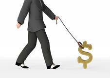 Futuro financiero que controla stock de ilustración