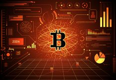 Futuro futuristico G di concetto di tecnologia di ui digitale astratto dei soldi illustrazione di stock