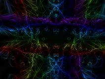 Futuro hermoso de la inspiración del fondo adornado abstracto del fractal Imagen de archivo