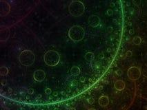 Futuro hermoso de la inspiración del fractal del concepto del fondo digital futurista adornado abstracto del poder Foto de archivo libre de regalías