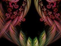 Futuro hermoso de la inspiración del fractal del fondo digital futurista adornado abstracto del poder Imagen de archivo libre de regalías
