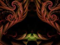 Futuro hermoso de la inspiración del fractal del tracery del fondo digital concéntrico mágico adornado abstracto del concepto Fotografía de archivo