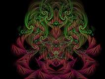 Futuro hermoso de la inspiración del fractal del tracery del fondo digital mágico adornado abstracto del concepto Fotos de archivo