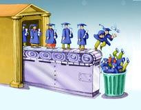 Futuro inútil do grau para jovens ilustração do vetor