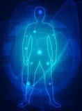 Futuro médico del cuerpo humano Fotos de archivo libres de regalías