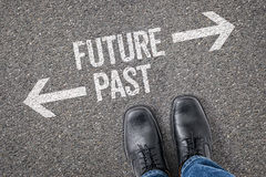 Futuro o pasado Imagen de archivo libre de regalías