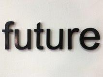 Futuro, palabra, fuente, pared enyesada, diseño, lema, bandera, diseño imagenes de archivo