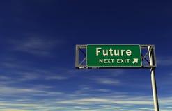 Futuro - sinal da saída de autoestrada Imagens de Stock Royalty Free