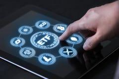 Futuro trocado troca do apoio do fundo de ETF da moeda cripto tal como Bitcoin fotos de stock royalty free