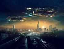 Futuro urbano del paesaggio illustrazione vettoriale