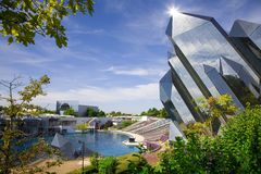 Futuroscope in Poitiers, France royalty free stock images