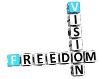 futurs mots de cube en mots croisé de vision de la liberté 3D Photo stock