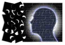 Futurustic sztuczna inteligencja - poj?cie wizerunek w wyrzynarki ?amig??wki kszta?cie fotografia royalty free