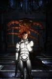 Futurystyczna żołnierza i obcego potwora pluskwa Zdjęcie Royalty Free