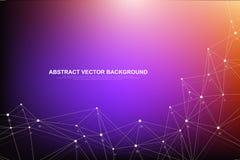 Futurystyczna abstrakcjonistyczna wektorowa tła blockchain technologia Głęboka sieć Rówieśnik przyglądać się sieć biznesu pojęcie ilustracji